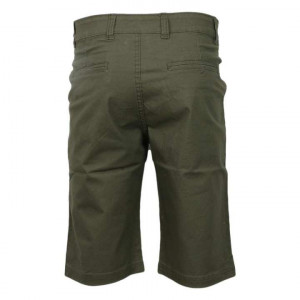 Green Cotton 3/4th Shorts For Men