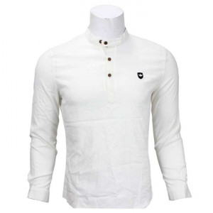 White 3 Buttoned T-Shirt For Men