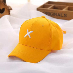 Ribbons Embroidery Summer Unisex Cap Light Orange