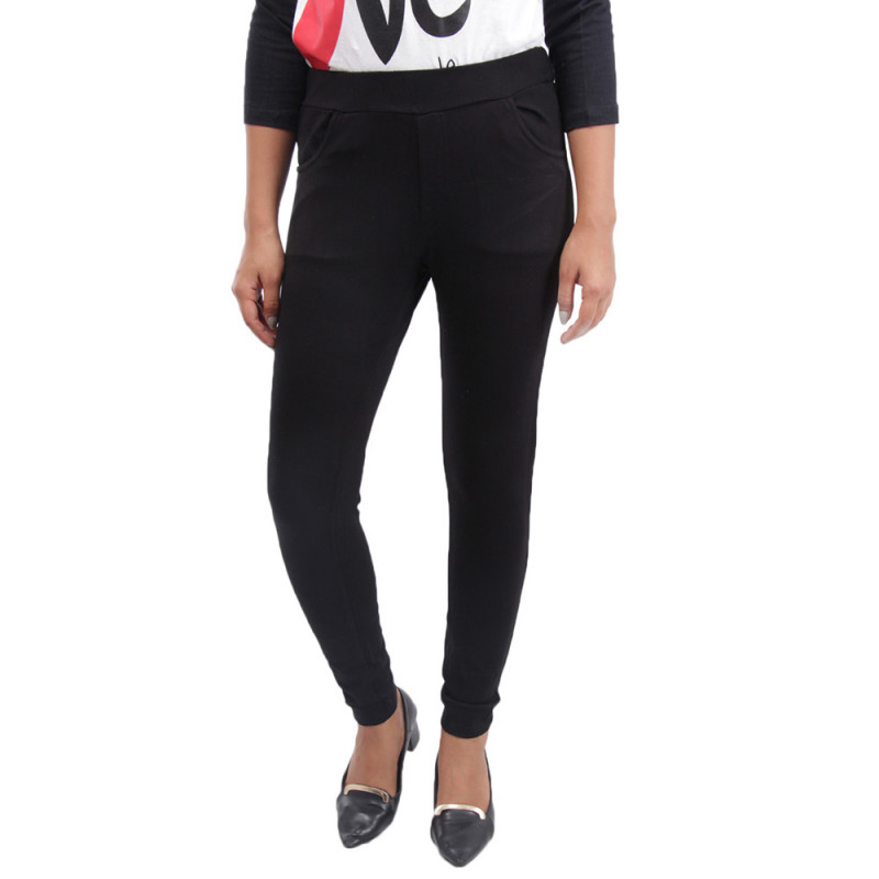 313e1471e60b9f Comfort Lady Kurti Pants (Leggings) with Pocket - Black(Buy One Get One  Free)