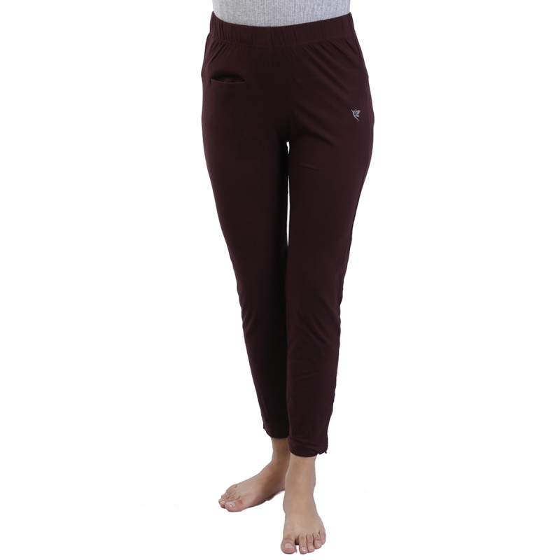 cba7a60511032d Comfort Lady Kurti Pants (Leggings) with Pocket-Brown(Buy One Get One Free)