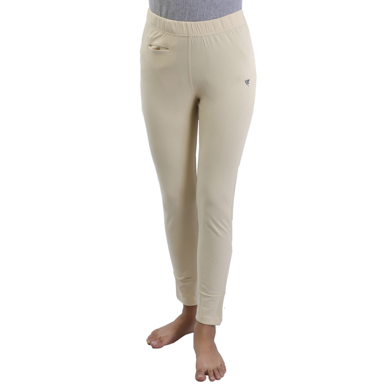 f81f9c50bca771 Comfort Lady Kurti Pants (Leggings) with Pocket-Off White(Buy One Get One  Free)