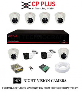 CP PLUS 8 HD CCTV Cameras and 8Ch HD DVR Kit with 1TB Hard Disk + all Accessories
