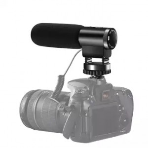 Camcorder Microphone, Shotory Shotgun Interview Camera Microphone, Professional External Hypercardioid On-Camera Microphone