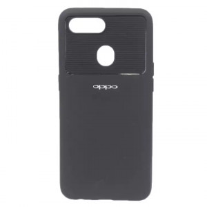 Black Color Line Pattern Printed Mobile Cover For Oppo F9