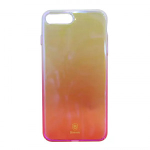 Transparent Pink Mobile Cover For Iphone 7