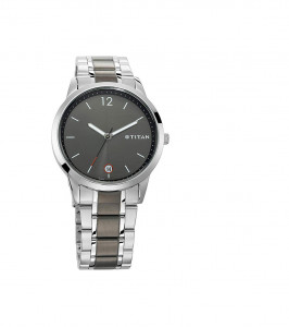 Titan Neo Analog Grey Dial Men's Watch-1806KM01