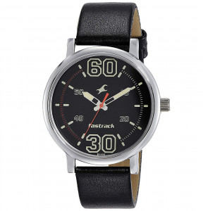 Fastrack Fundamentals Analog Black Dial Men's Watch - 38052SL02