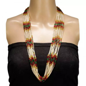 Off-White Beaded Pote Haar Necklace