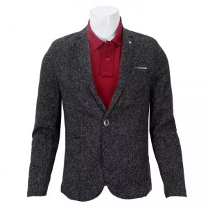 Summer Blazer For Men- Dark Grey (One Button)