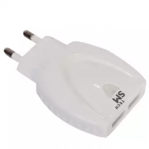 SM tech 2 Port Auto-ID Travel Charger (SM-C4) - White