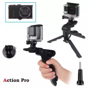 Action Pro 2-in-1 Handgrip and Tabletop High-end Tripod Monopod for Go Pro Hero 5 4S 4 3+ 3 2 for XIAOMI Yi 2 for SJCAS J4000 Camera
