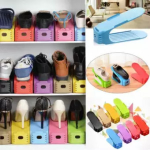 6 Pcs Plastic Shoes Rack Organizer