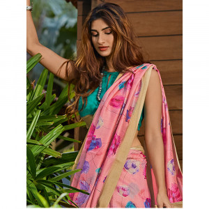 Stylee lifestyle Exclusive Cotton Silk Printed Saree - 2397