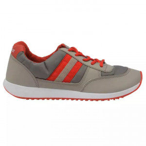 Goldstar Grey / Red Sports Shoes For Men - 39