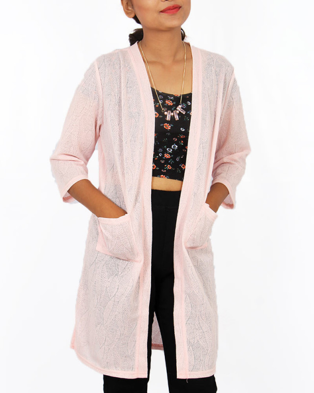 Buy Pretty Collection Long Transparent Cardigan online at best ...