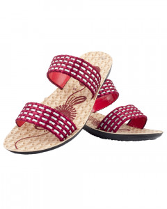 Shikhar Women's Red Open Toe Sandals