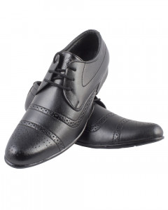 Shikhar Men's Black Derby Shoes