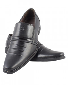Shikhar Men's Black Stylish Shoes