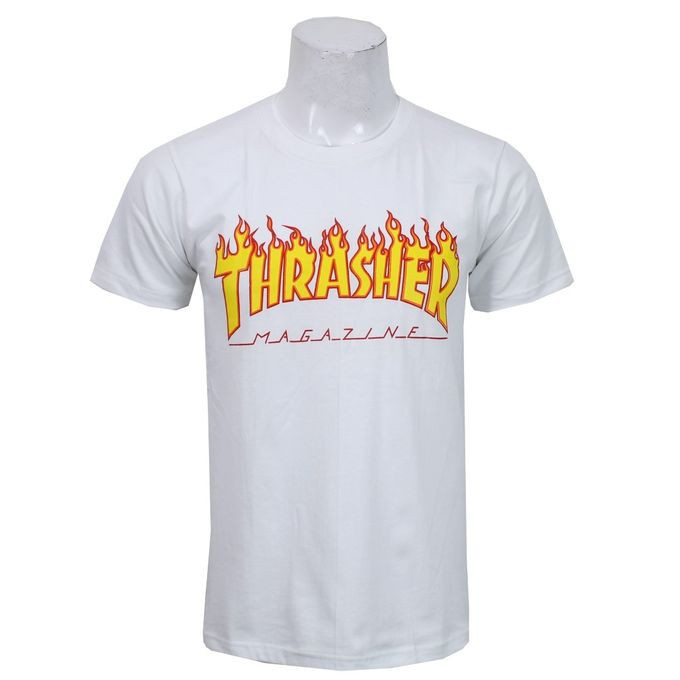 ead251157137 Buy Men's White Thrasher Magazine Print Tshirt online at best price ...