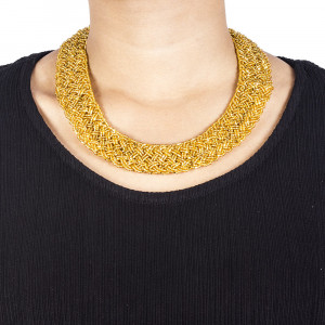 Pote Store's Golden Namlo Pote Choker  Necklace