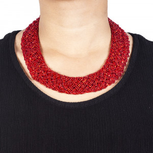 Pote Store's Red Namlo Pote Choker Necklace