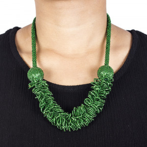 Pote Store's Green Gold Coast Pote Mala  Necklace