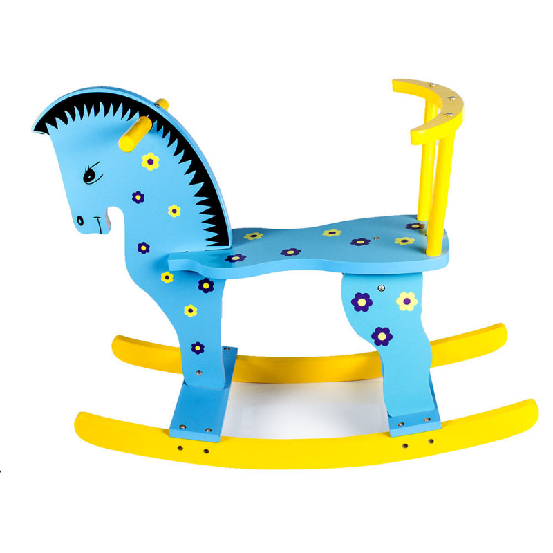 Kconnecting Kids Wooden Rocking Horse For Kids Outdoor Riding Horse Toy