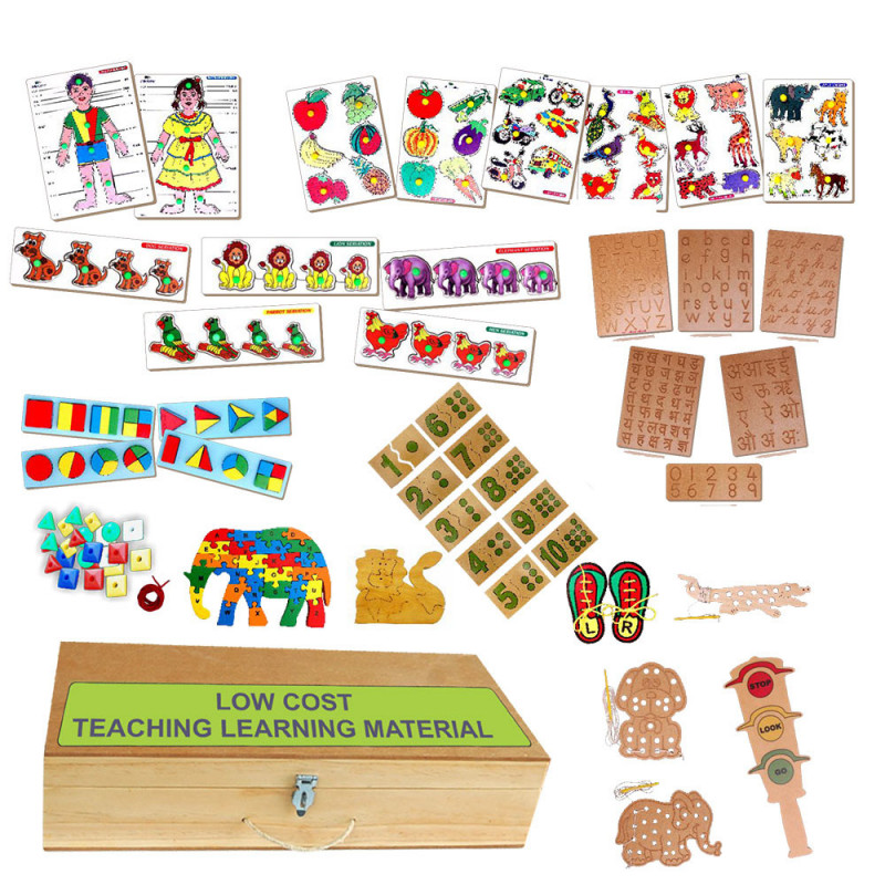 Kconnecting kids 52 Pieces low cost teaching/learning Materials for kids