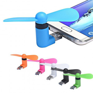 Aafno Pasal Heartly OTG Mini USB Cooling Portable Fan Mobile Cooler For V8 Android
